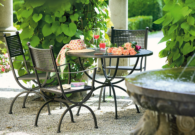 Gartenmobel Hohe Qualitat : MBM Sessel Romeo 156119 marone Eisen Gartenmöbel  Art Jardin