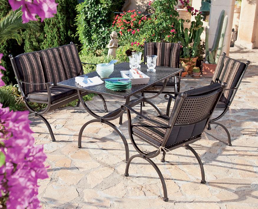 ... MBM Tisch Romeo 160x90cm 156135 Gartenmöbel Esstisch Eisen Verzinkt ...