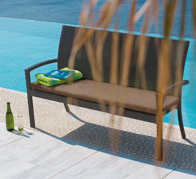 mbm 3 sitze bank bellini polyrattan gartenm bel 3farb art jardin. Black Bedroom Furniture Sets. Home Design Ideas