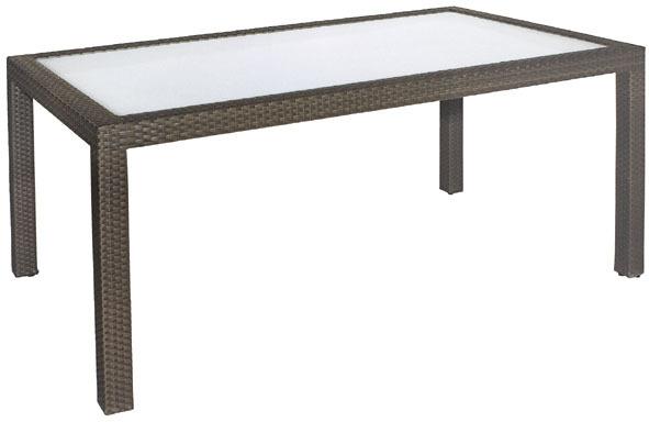 Polyrattan Tisch Mit Glasplatte.Mbm Tisch Bellini 90x160cm Mocca 68 00 0110 Alu Polyrattan Esstisch Glasplatte