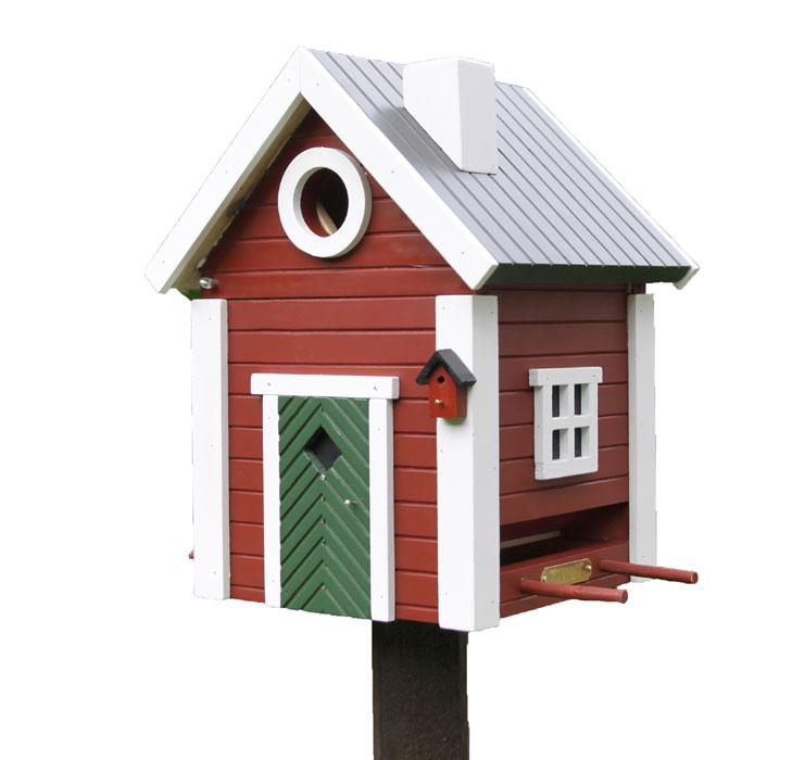 vogelhaus nistkasten schwedenkate wg 101 futterhaus art. Black Bedroom Furniture Sets. Home Design Ideas