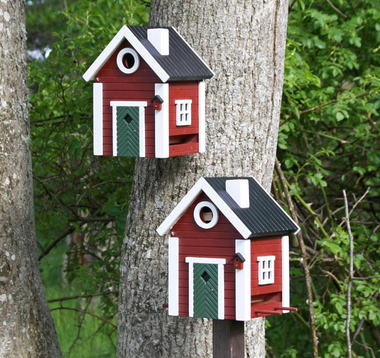 vogelhaus nistkasten schwedenkate wg101 futterhaus rot. Black Bedroom Furniture Sets. Home Design Ideas