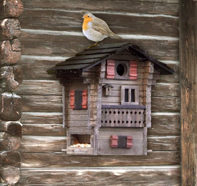 vogelhaus nistkasten alpenhaus wg215 futterhaus braun art. Black Bedroom Furniture Sets. Home Design Ideas