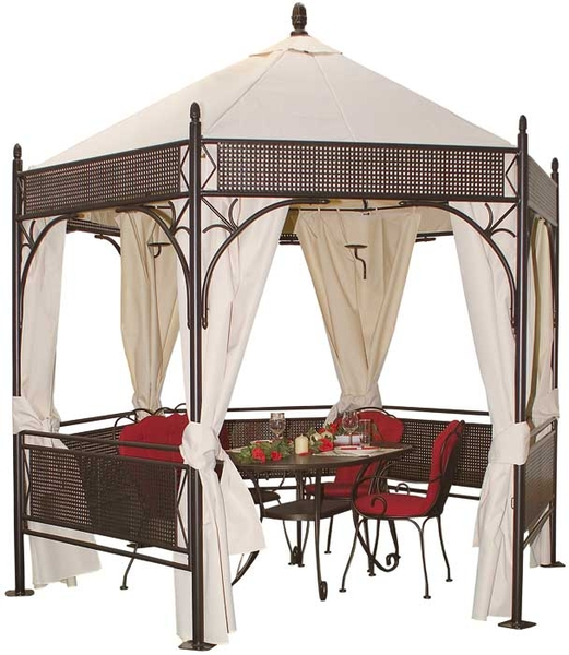 mbm garten pavillon romeo romantik 6eckig art jardin. Black Bedroom Furniture Sets. Home Design Ideas