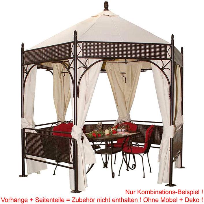 mbm garten pavillon romeo romantik 6 eckig art jardin. Black Bedroom Furniture Sets. Home Design Ideas