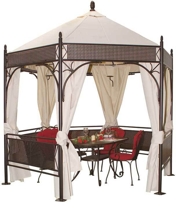 mbm 5stck metall seitenteile f pavillon romantik art jardin. Black Bedroom Furniture Sets. Home Design Ideas