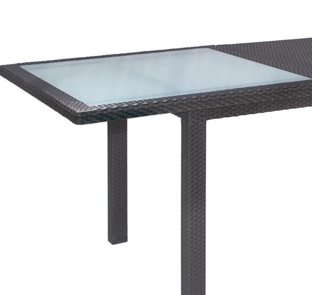 mbm auszieh ess tisch bellini 100x180 240 mocca koala art. Black Bedroom Furniture Sets. Home Design Ideas
