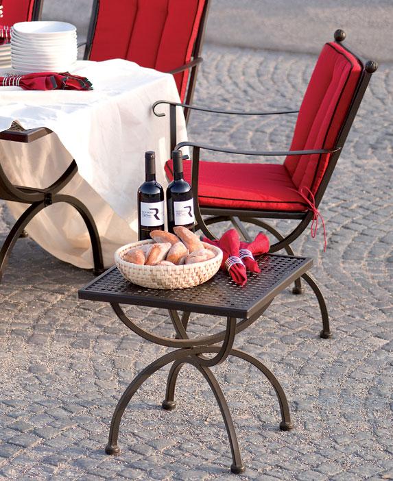 mbm beistelltisch romeo 50cm 156143 gartentisch eisen art jardin. Black Bedroom Furniture Sets. Home Design Ideas