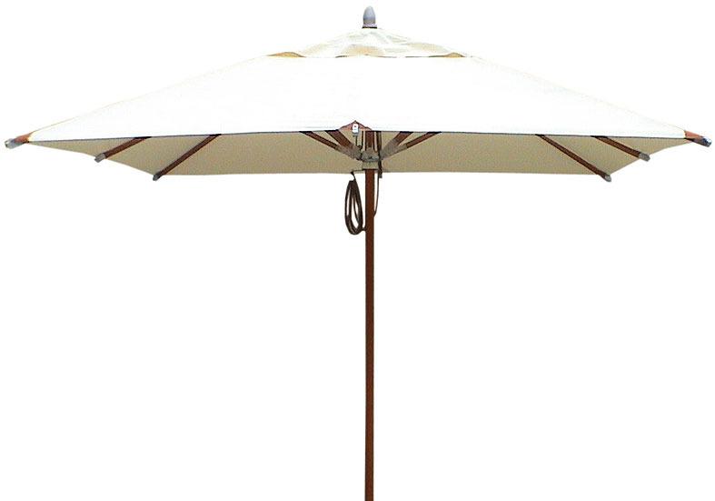 mbm schirm sunrise 275x275cm natur holz alu sonnenschirm art jardin. Black Bedroom Furniture Sets. Home Design Ideas