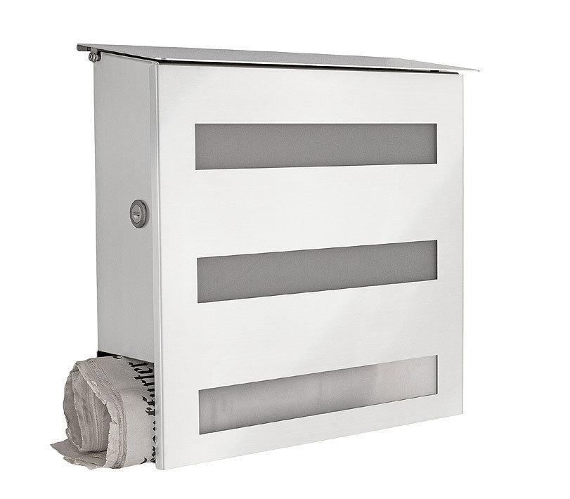 heibi briefkasten gecco 64237 072 edelstahl postkasten. Black Bedroom Furniture Sets. Home Design Ideas
