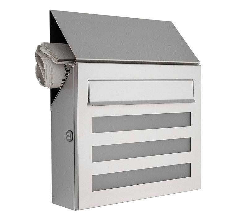 heibi briefkasten terno 64236 072 edelstahl postkasten artjardin. Black Bedroom Furniture Sets. Home Design Ideas