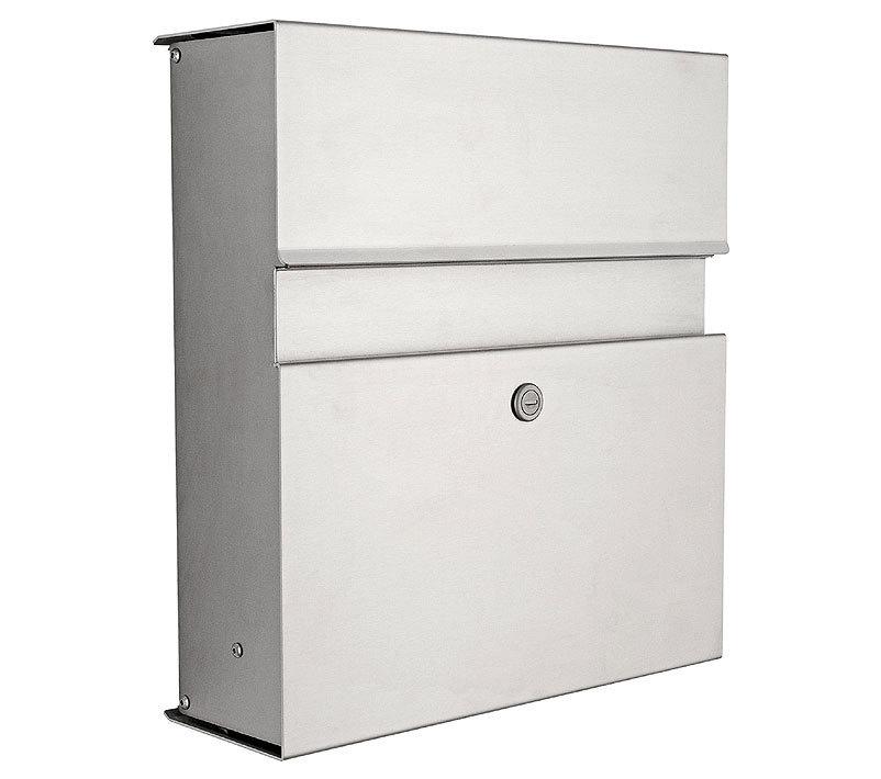 heibi briefkasten calmo 64398 072 edelstahl postkasten artjardin. Black Bedroom Furniture Sets. Home Design Ideas