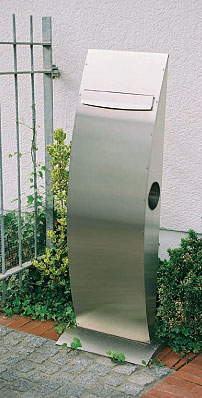 heibi briefkasten anlage la ola 64177 072 edelstahl art jardin. Black Bedroom Furniture Sets. Home Design Ideas