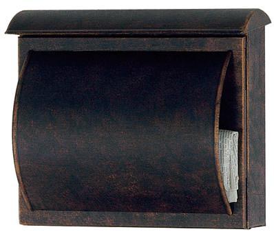heibi briefkasten quelo 64158 002 braun postkasten vz art. Black Bedroom Furniture Sets. Home Design Ideas