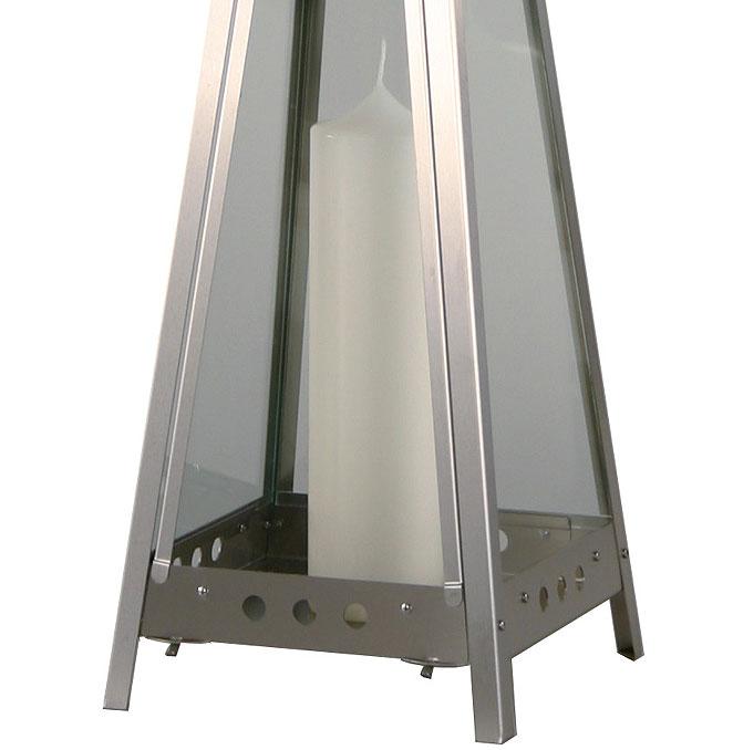 Heibi windlicht pyramid 56241 072 edelstahl laterne art for Laterne windlicht