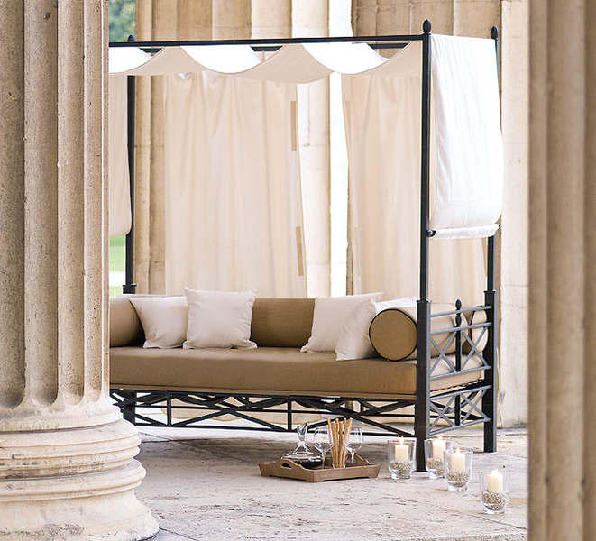 mbm baldachin himmel f r loungebett medici art jardin. Black Bedroom Furniture Sets. Home Design Ideas