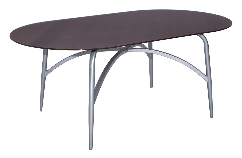 mbm tisch moreno platin oval 110x190 cafe art. Black Bedroom Furniture Sets. Home Design Ideas