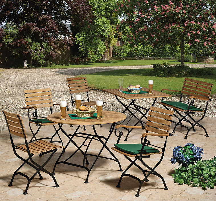 Gartenmobel Bauen Mit Paletten : Classic Klapptisch MALNAUX 665779 1m rund Gartenmöbel klappbar