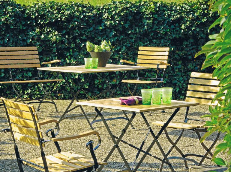 Teakholz Gartenmobel Edelstahl : STERN Klapptisch MONTANA rund 90cm 426713  Classic Gartenmöbel Tisch