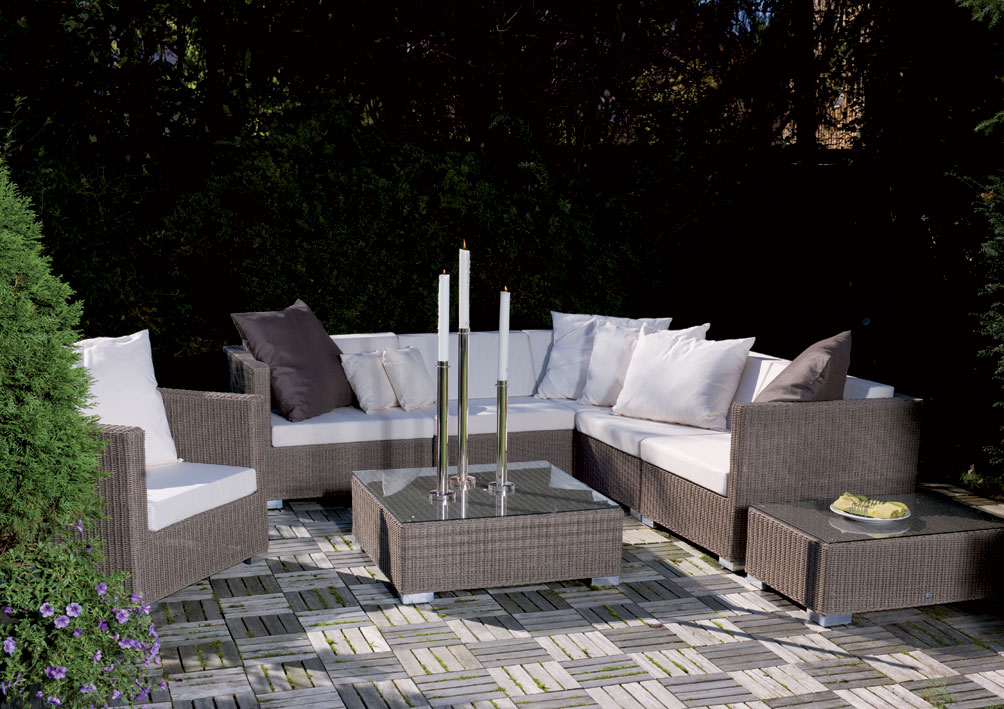 mbm lounge mittelmodul bellini mocca koala polyrattan art jardin. Black Bedroom Furniture Sets. Home Design Ideas