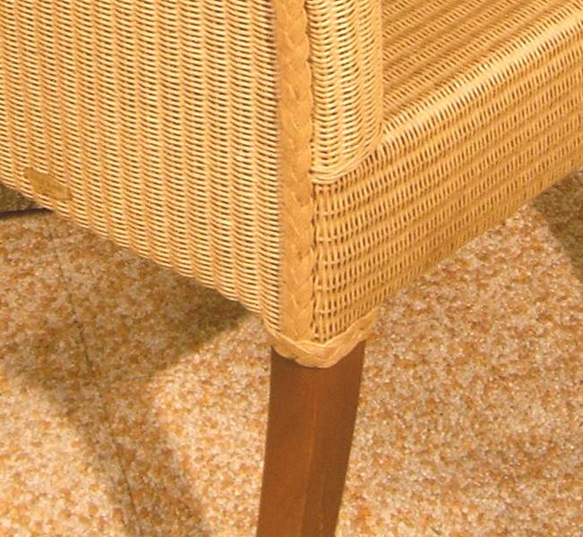 original lloyd loom stuhl byvaria m massivholzgestell art jardin. Black Bedroom Furniture Sets. Home Design Ideas