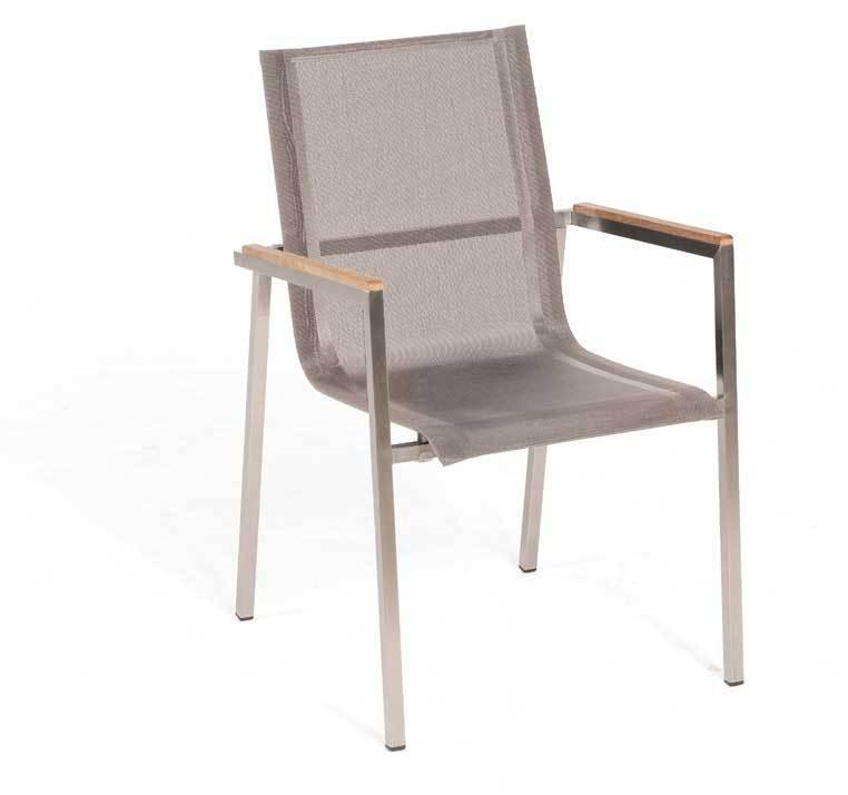 sessel taupe, sonnenpartner stapelsessel malta edelstahl + textilene- artjardin, Design ideen