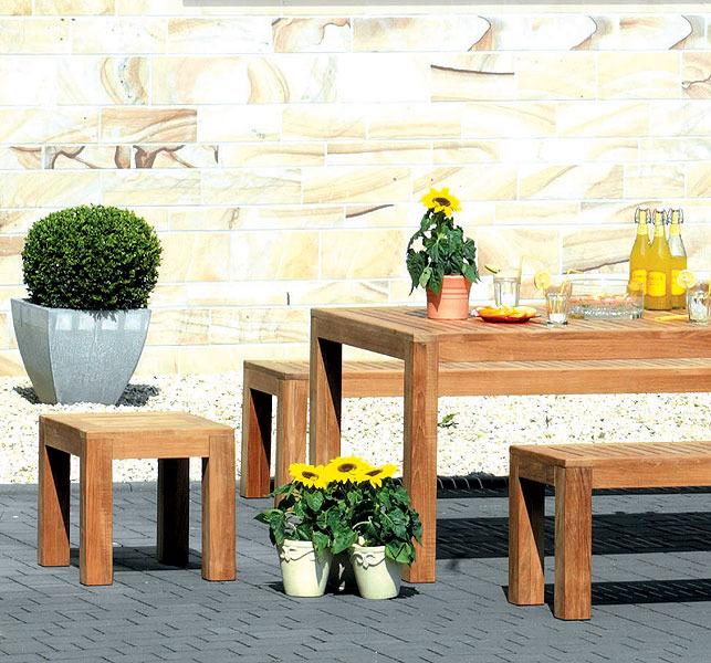 sonnenpartner sitz hocker rochester 80060530 teakholz art jardin. Black Bedroom Furniture Sets. Home Design Ideas
