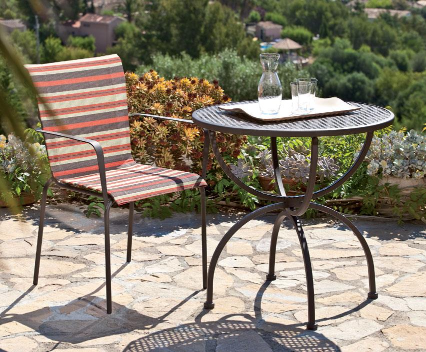 tisch romeo 75rund mbm gartenm bel esstisch art jardin. Black Bedroom Furniture Sets. Home Design Ideas