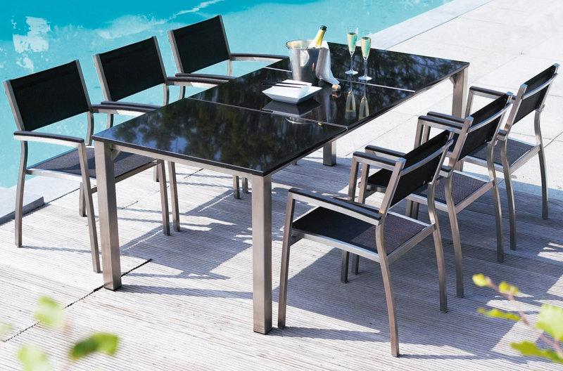 life edelstahl esstisch 140cm phay 1542068 granit pol art jardin. Black Bedroom Furniture Sets. Home Design Ideas