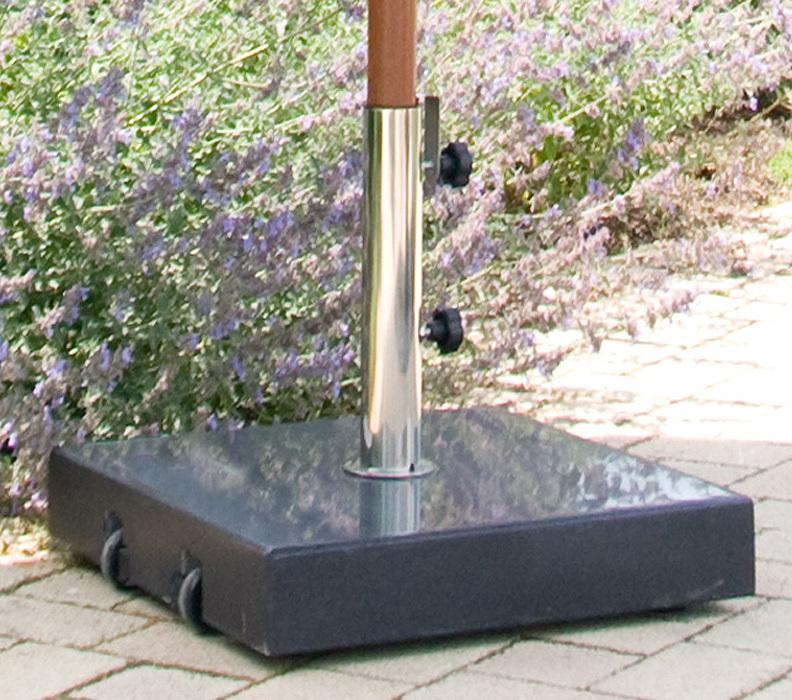 zebra schirmfu granit schwarz 55kg 4906 schirmst nder. Black Bedroom Furniture Sets. Home Design Ideas