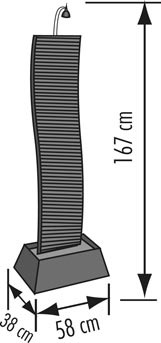 seliger zimmerbrunnen bao 20034 schiefer wasserspiel art jardin. Black Bedroom Furniture Sets. Home Design Ideas
