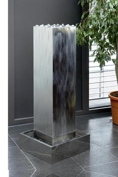 Seliger edelstahl brunnen kubus 24025 neu in outdoor art jardin - Zimmerbrunnen modern ...