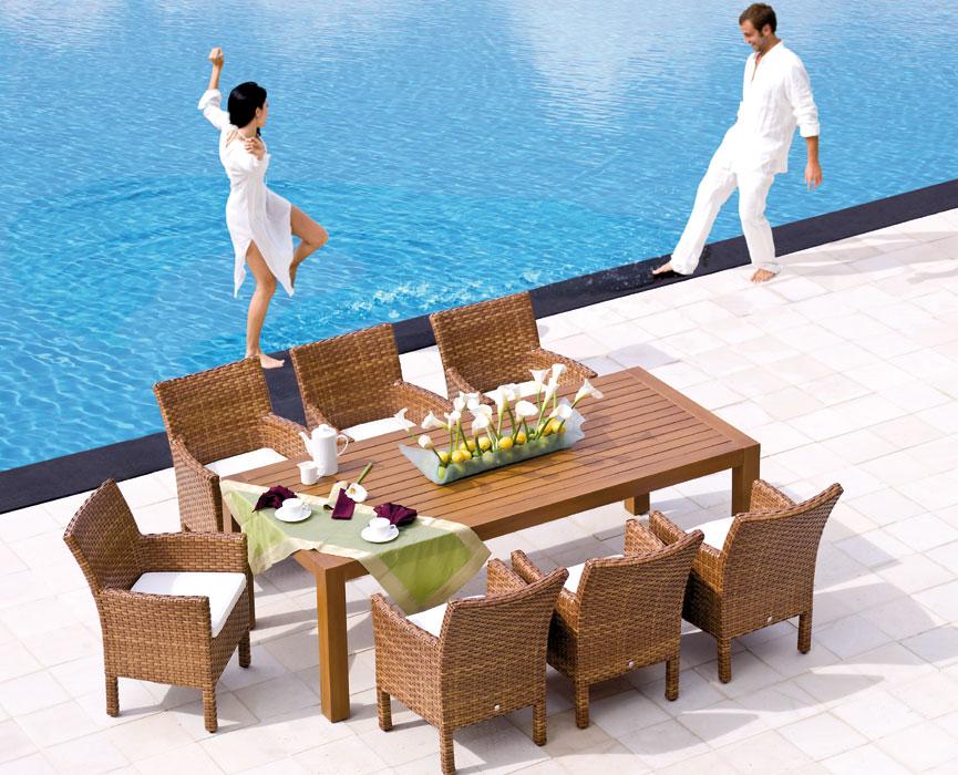 mbm sessel madrigal tobacco polyrattan art jardin. Black Bedroom Furniture Sets. Home Design Ideas