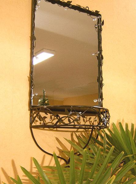spiegel konsole arte metall altbraun dielenm bel deko art. Black Bedroom Furniture Sets. Home Design Ideas