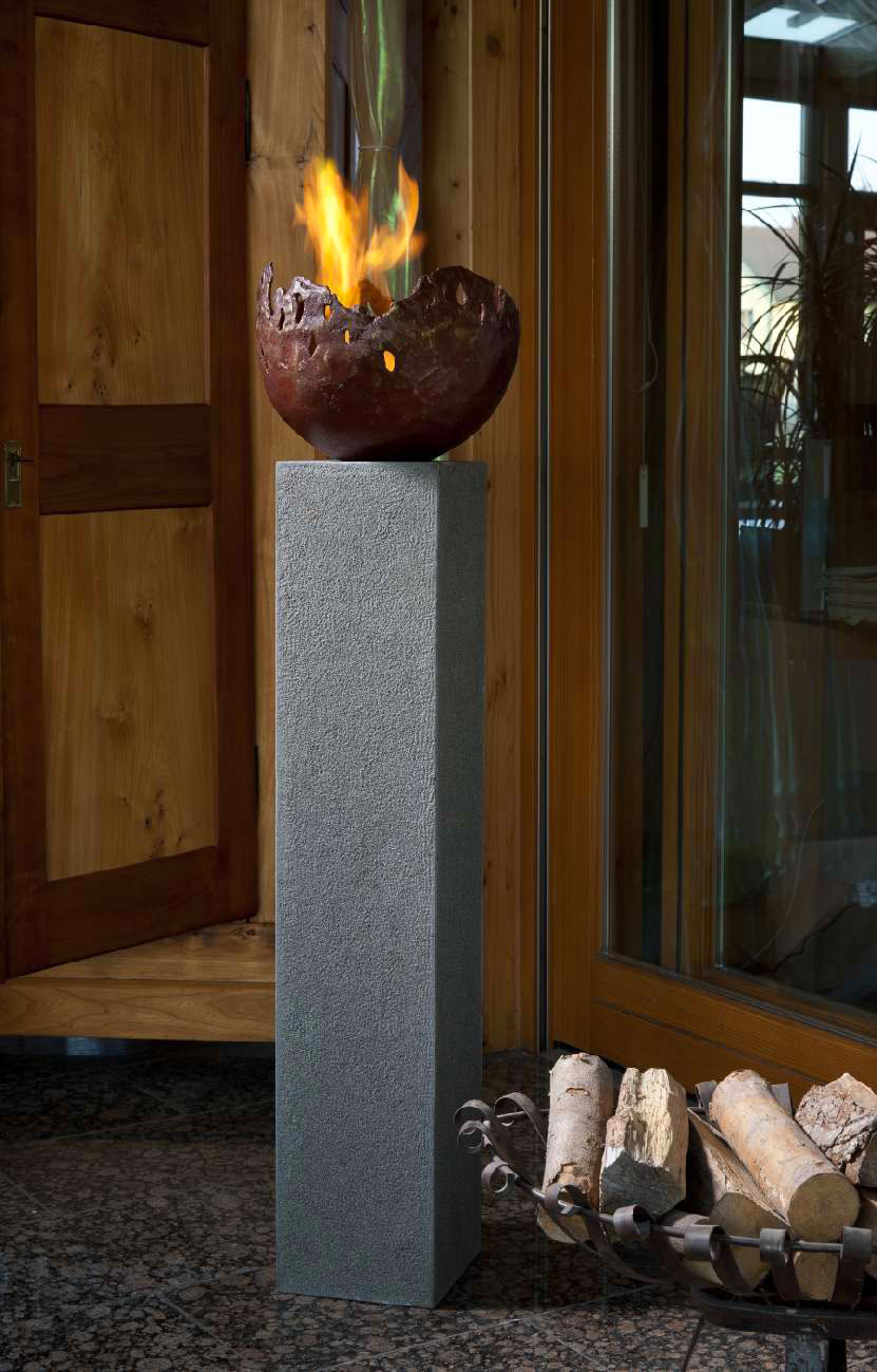 rottenecker feuerschale fire gro bronze rot 22001 art jardin. Black Bedroom Furniture Sets. Home Design Ideas