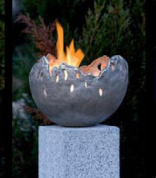 Rottenecker Feuerschale FIRE groß Bronze silber 22005- Art Jardin