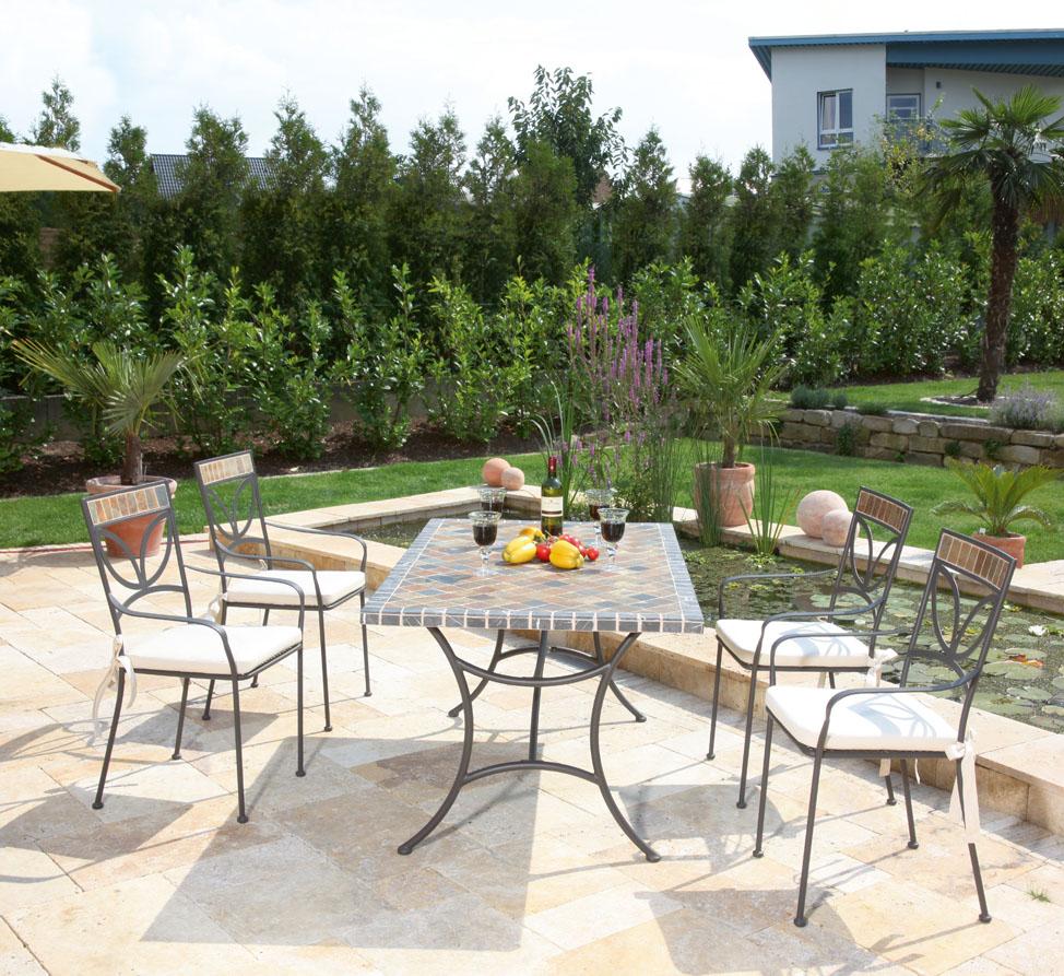 sonnenpartner mosaik tisch 150x90 montblanc 80085950 art jardin. Black Bedroom Furniture Sets. Home Design Ideas