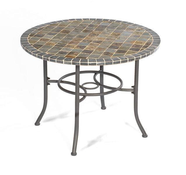 Gartentisch rund mosaik  Sonnenpartner Eisen Tisch 1m rund MONTBLANC 80060466 - Art Jardin