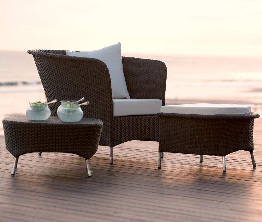 mbm loungesessel ornella mocca polyrattan art. Black Bedroom Furniture Sets. Home Design Ideas