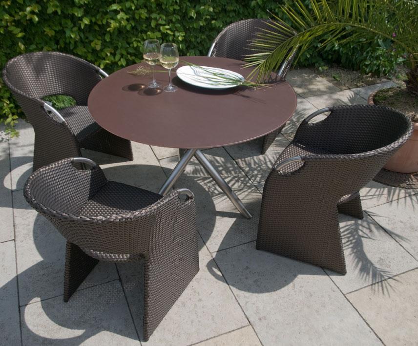 Gartenmobel Aus Aluminium : Zebra Sessel Wave 6309 slate Polyrattan Gartenmöbel  Art Jardin