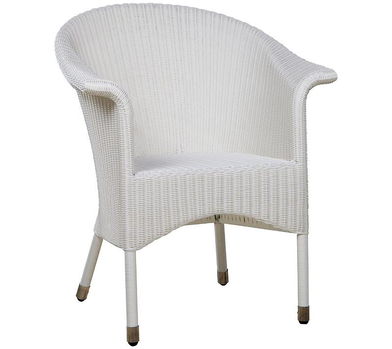 Zebra Sessel Hastings 4195 Weiß Polyrattan Korb Möbel Art Jardin