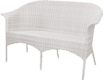 zebra 2 sitzer bank sofa hastings 4146 wei polyrattan artjardin. Black Bedroom Furniture Sets. Home Design Ideas