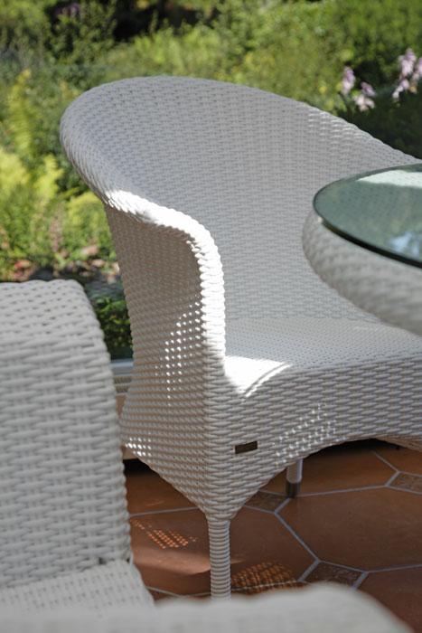 Zebra 2 sitzer bank sofa hastings 4146 wei polyrattan artjardin - Polyrattan gartenmobel weiss ...