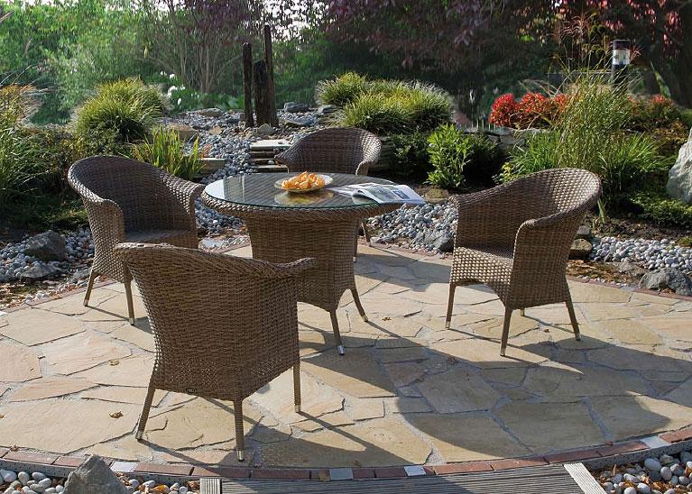 zebra tisch hastings 5320 walnut esstisch polyrattan art jardin. Black Bedroom Furniture Sets. Home Design Ideas