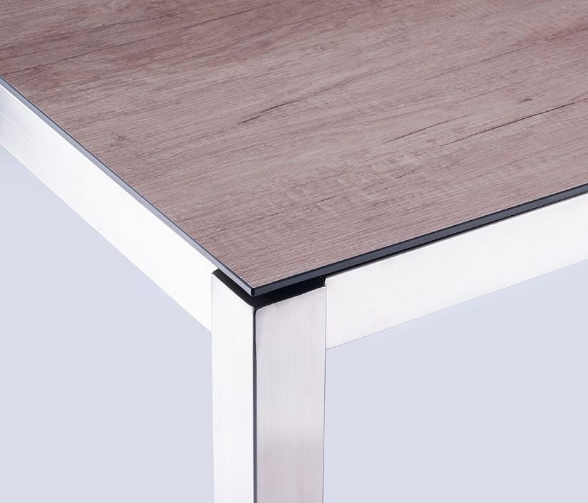 Zebra ess tisch gestell 180x100cm opus 6560 edelstahl art for Design tisch edelstahl