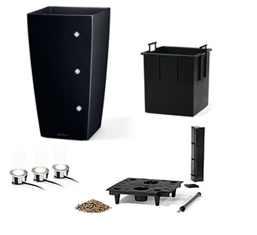 lechuza pflanzgef cubico 30 premium led komplettset art jardin. Black Bedroom Furniture Sets. Home Design Ideas