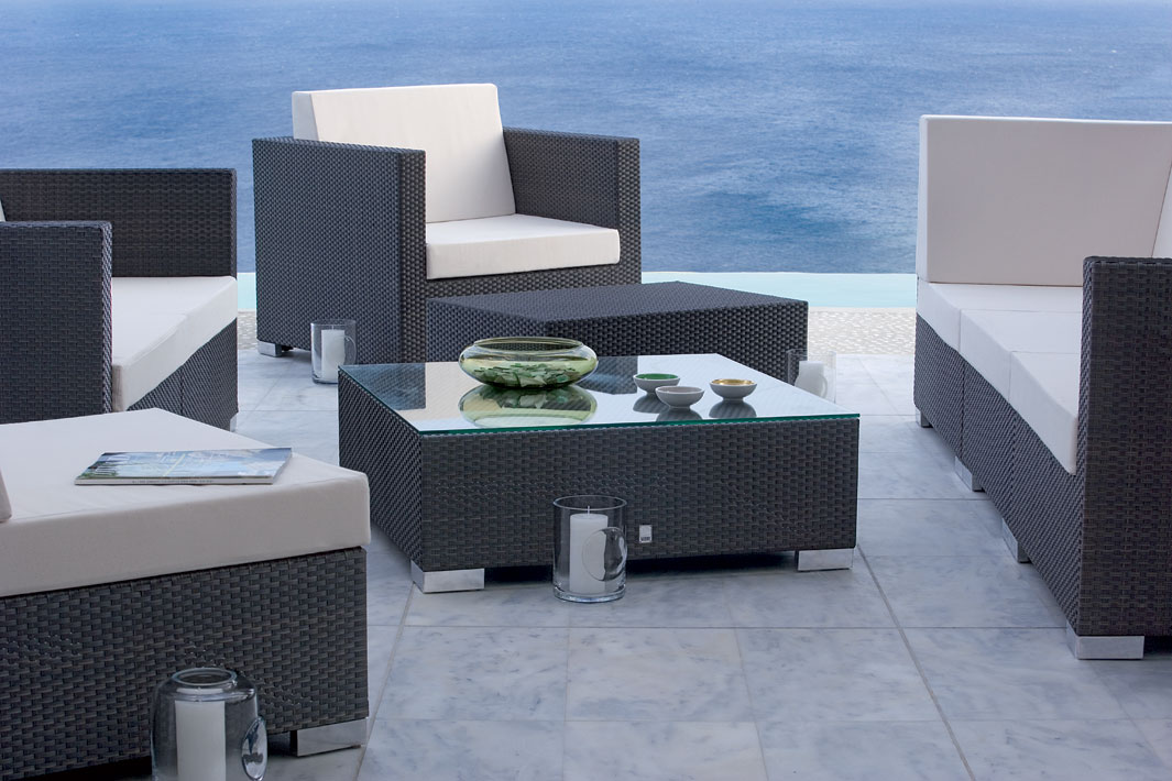 mbm lounge bank tisch bellini 56x120 mocca polyrattan art jardin. Black Bedroom Furniture Sets. Home Design Ideas