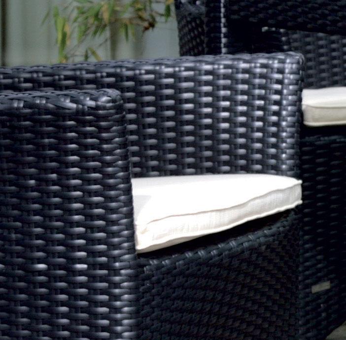 ZEBRA Sessel HILTON nero 4132 Polyrattan Gartenmöbel in der edlen 6mm