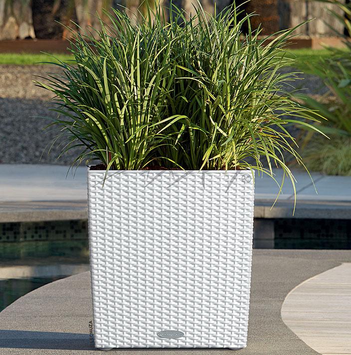 lechuza pflanzgef cube cottage 40 granit 15382 design. Black Bedroom Furniture Sets. Home Design Ideas