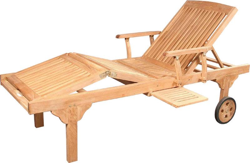 zebra roll liege mentor 2625 s teak holz gartenm bel art jardin. Black Bedroom Furniture Sets. Home Design Ideas